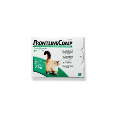 FRONTLINE COMP 50/60 mg vet paikallisvaleluliuos (kissoille ja freteille)3x0,5 ml