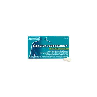 GALIEVE PEPPERMINT 250/133,5/80 mg purutabl 48 fol