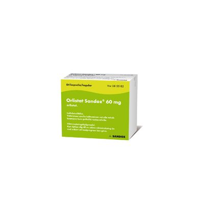 ORLISTAT SANDOZ 60 mg kaps, kova 126 fol