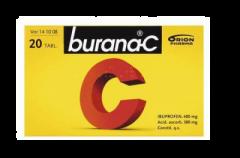BURANA-C 400/300 mg tabl, kalvopääll 20 fol