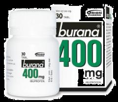BURANA 400 mg tabl, kalvopääll 30 kpl