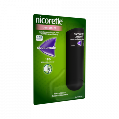 NICORETTE BERRYMINT 1 mg/annos sumute suuonteloon, liuos 150 annosta