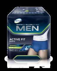 TENA Men Active Fit Pants Plus M INKOHOUSUT MIEHILLE, LANT.YMP. 75-105CM 12 kpl