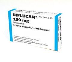 DIFLUCAN 150 mg kaps, kova 1 fol